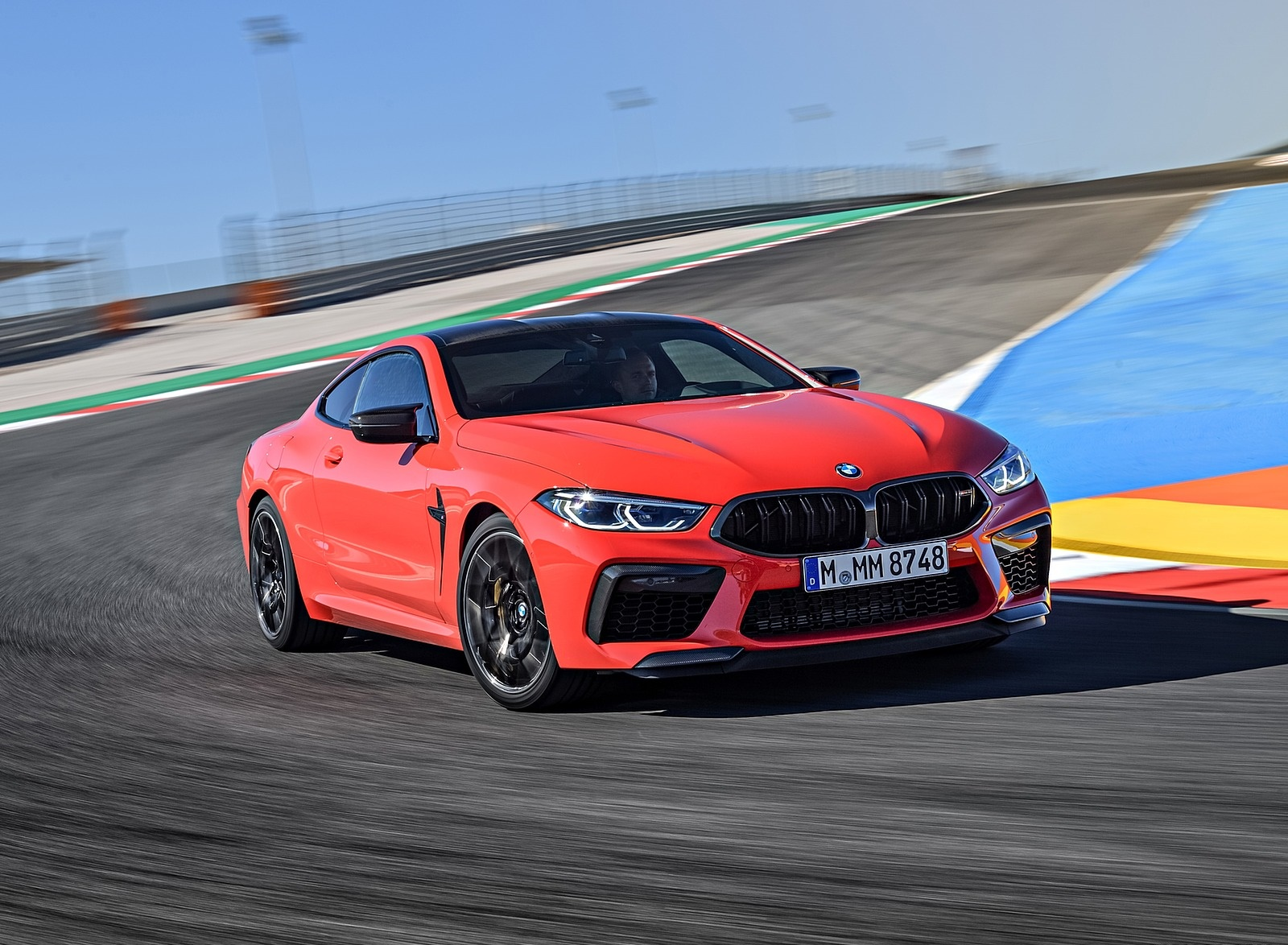 2020 BMW M8 Competition Coupe (Color: Fire Red) Front Three-Quarter Wallpapers (9)
