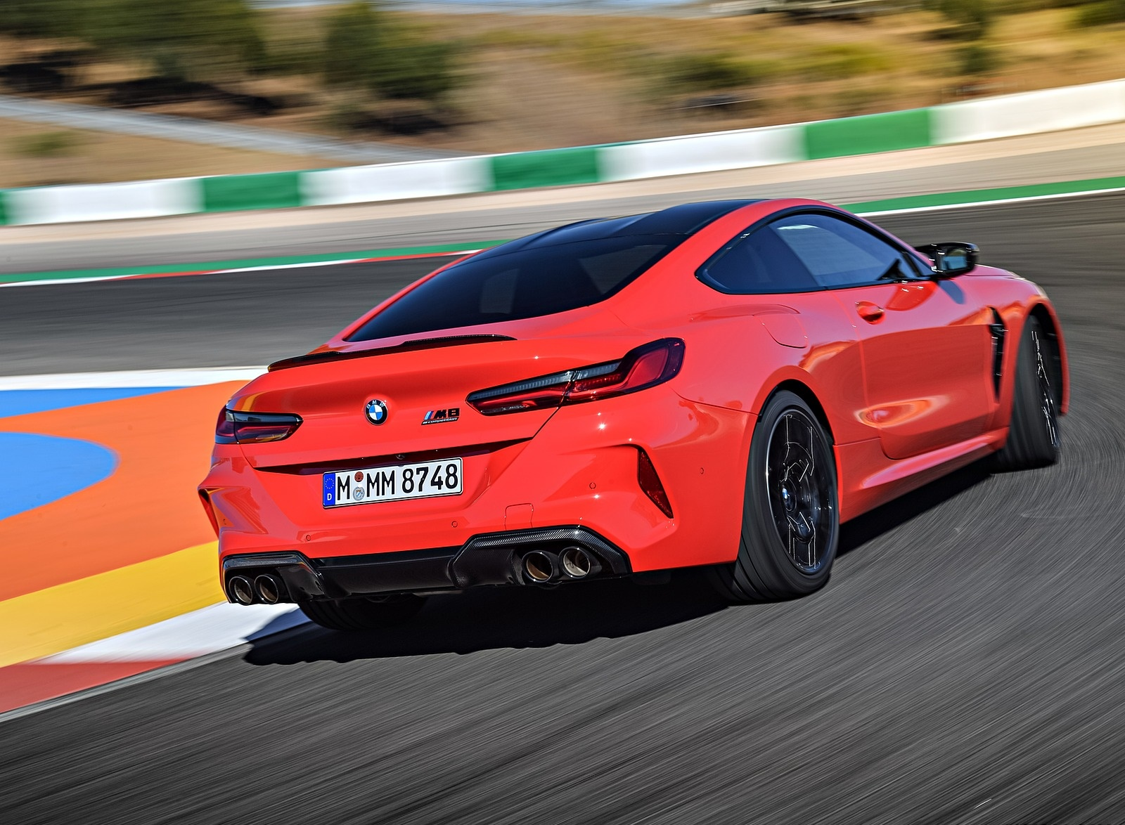 2020 BMW M8 Competition Coupe (Color: Fire Red) Rear Three-Quarter Wallpapers (14)
