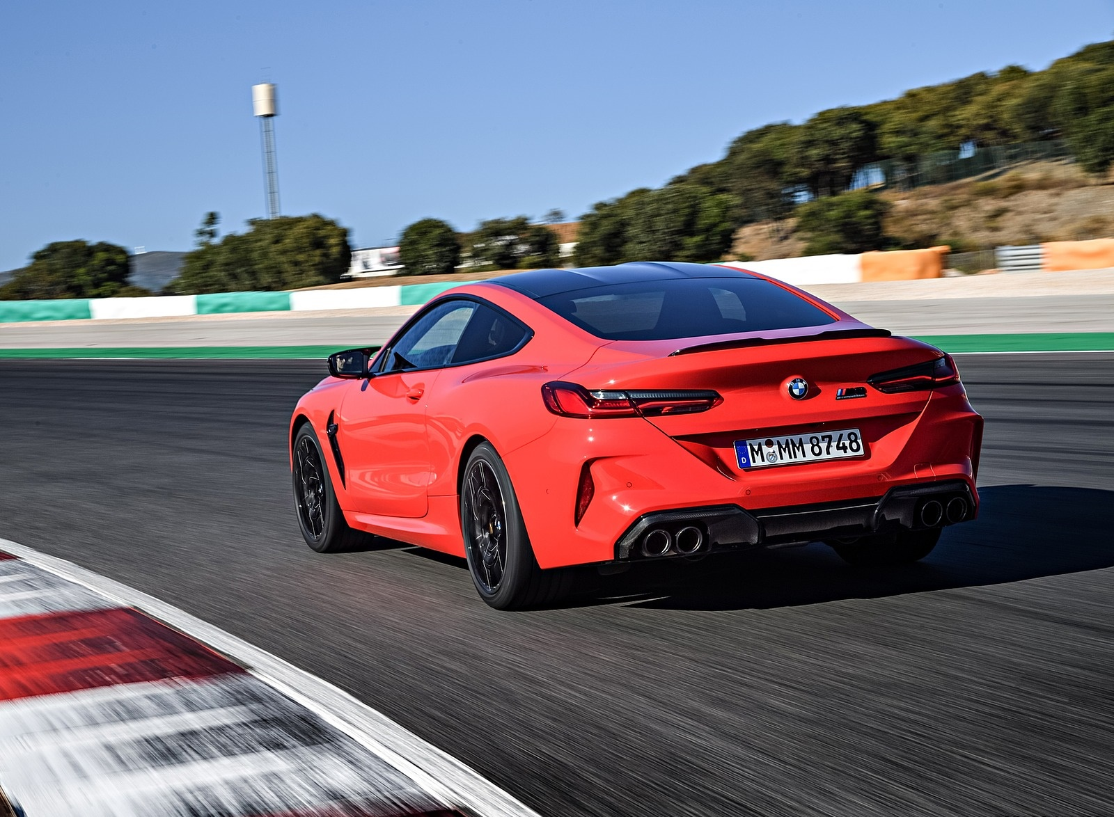 2020 BMW M8 Competition Coupe (Color: Fire Red) Rear Three-Quarter Wallpapers (15)
