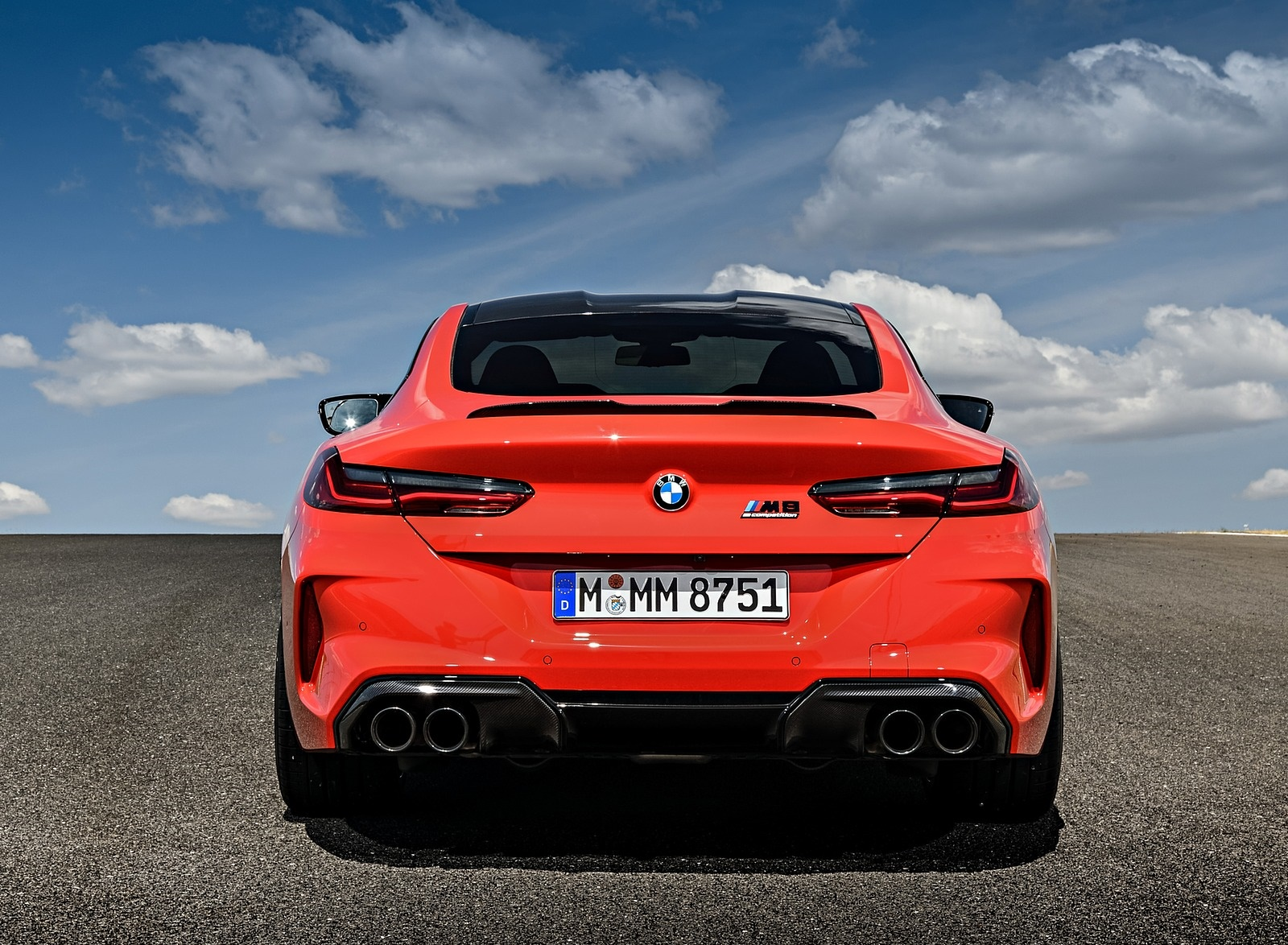 2020 Bmw M8 Competition Coupe Color Fire Red Rear Wallpapers 80 Newcarcars