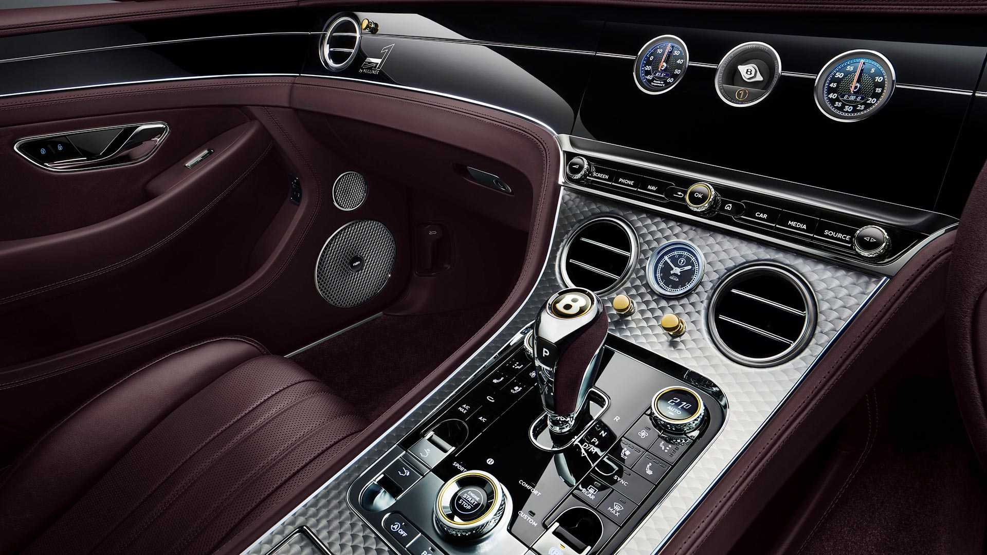 2020 Bentley Continental GT Convertible Number 1 Edition by Mulliner Interior Detail Wallpapers (9)