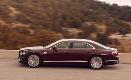 2020 Bentley Flying Spur (Color: Cricket Ball) Side Wallpapers 450x275 (120)