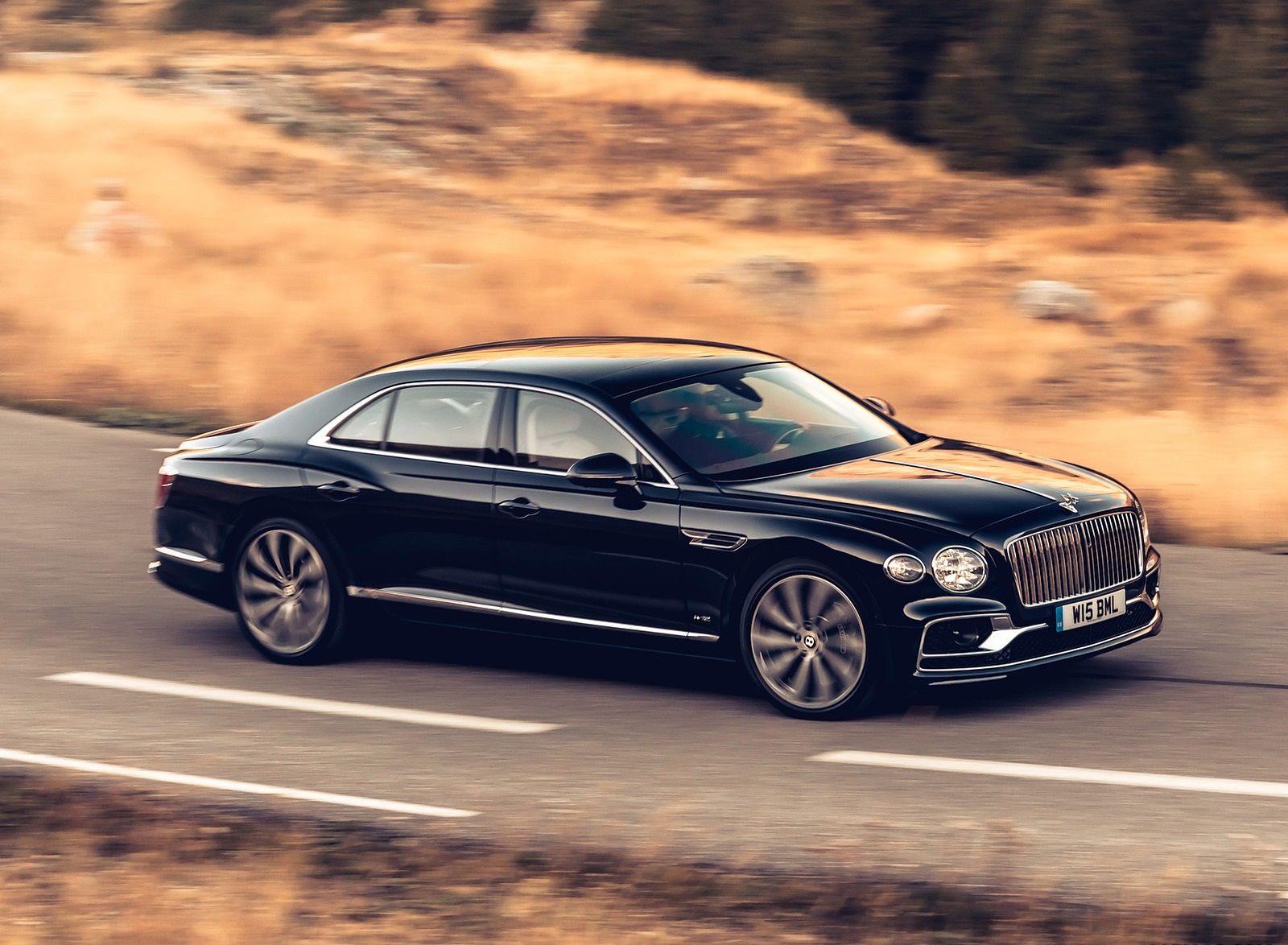2020 Bentley Flying Spur (Color: Dark Sapphire) Front Three-Quarter Wallpapers (3)
