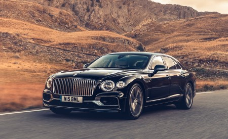 2020 Bentley Flying Spur (Color: Dark Sapphire) Front Three-Quarter Wallpapers 450x275 (5)