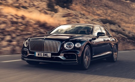 2020 Bentley Flying Spur (Color: Dark Sapphire) Front Three-Quarter Wallpapers 450x275 (6)