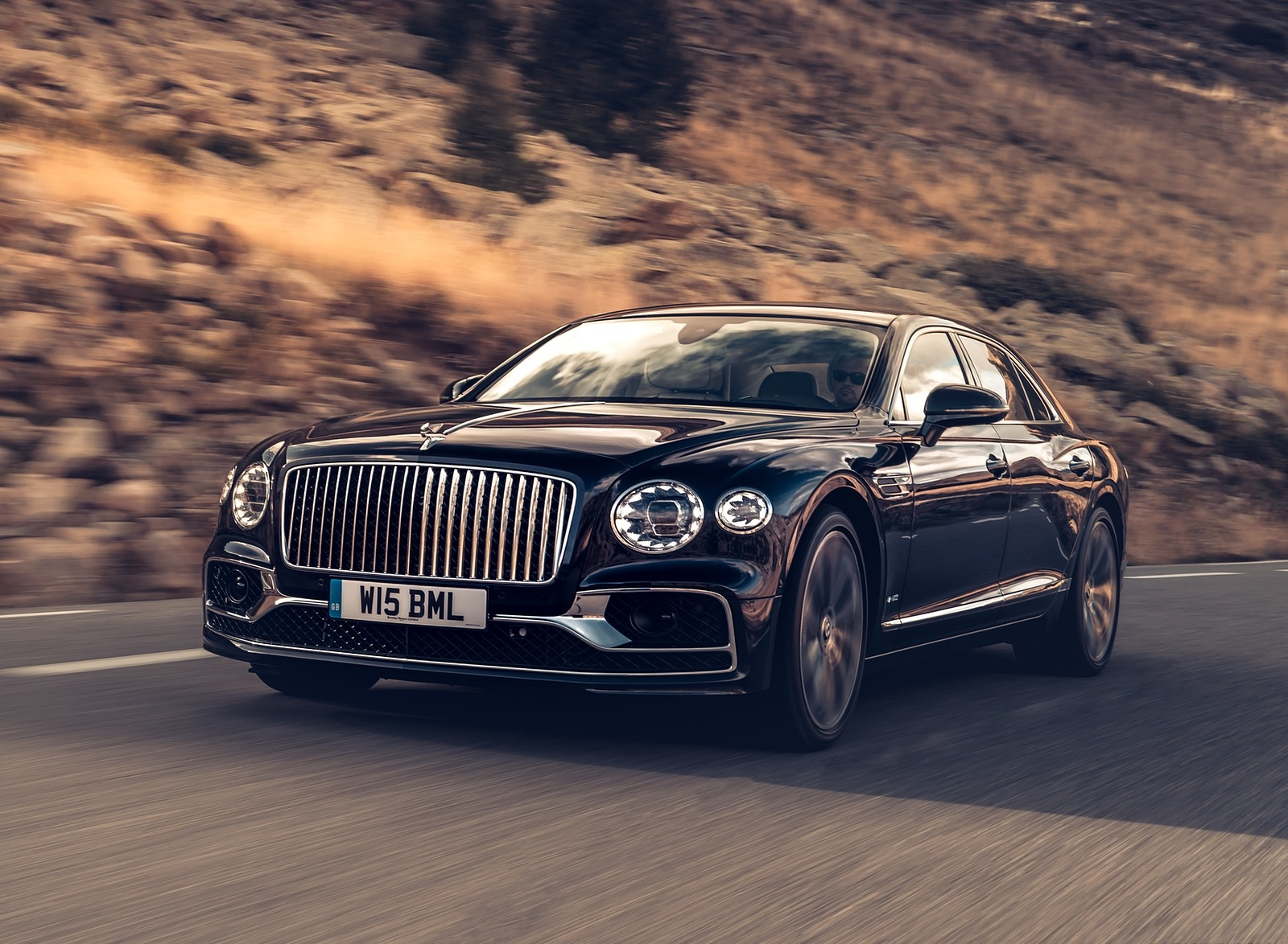 2020 Bentley Flying Spur (Color: Dark Sapphire) Front Three-Quarter Wallpapers (6)