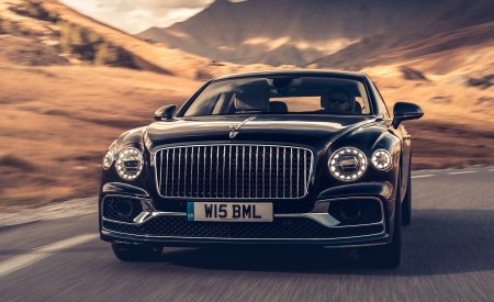 2020 Bentley Flying Spur (Color: Dark Sapphire) Front Wallpapers 450x275 (2)
