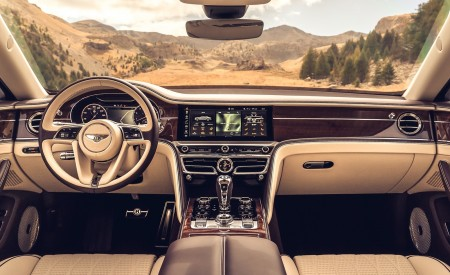 2020 Bentley Flying Spur (Color: Dark Sapphire) Interior Cockpit Wallpapers 450x275 (19)
