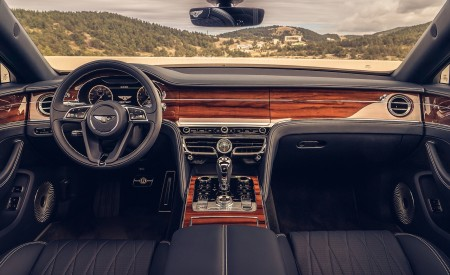 2020 Bentley Flying Spur (Color: White Sand) Interior Cockpit Wallpapers 450x275 (104)