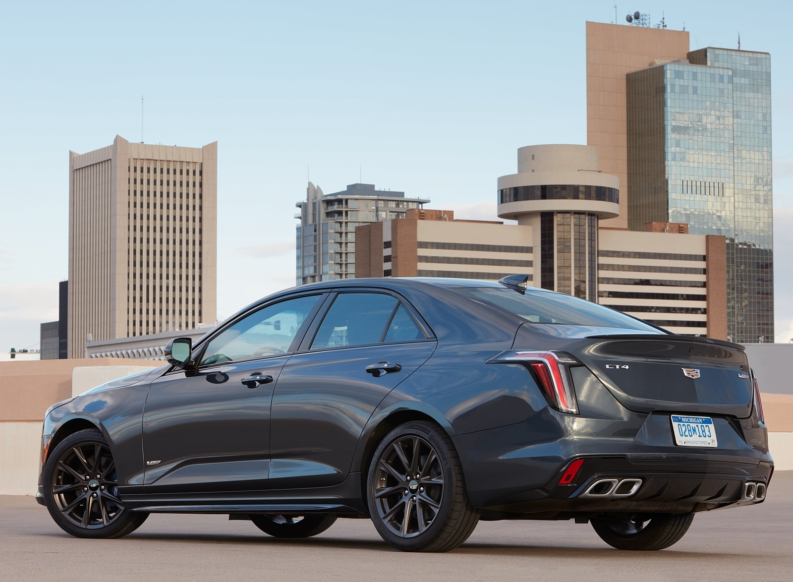 2020 Cadillac CT4-V Rear Three-Quarter Wallpapers (8)