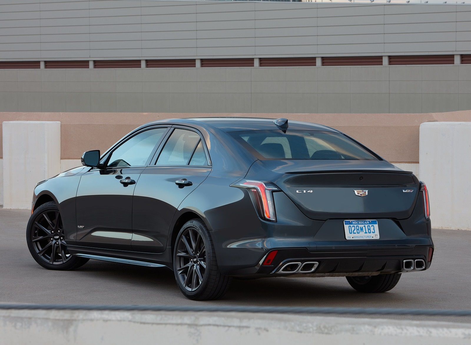 2020 Cadillac CT4-V Rear Three-Quarter Wallpapers (9)