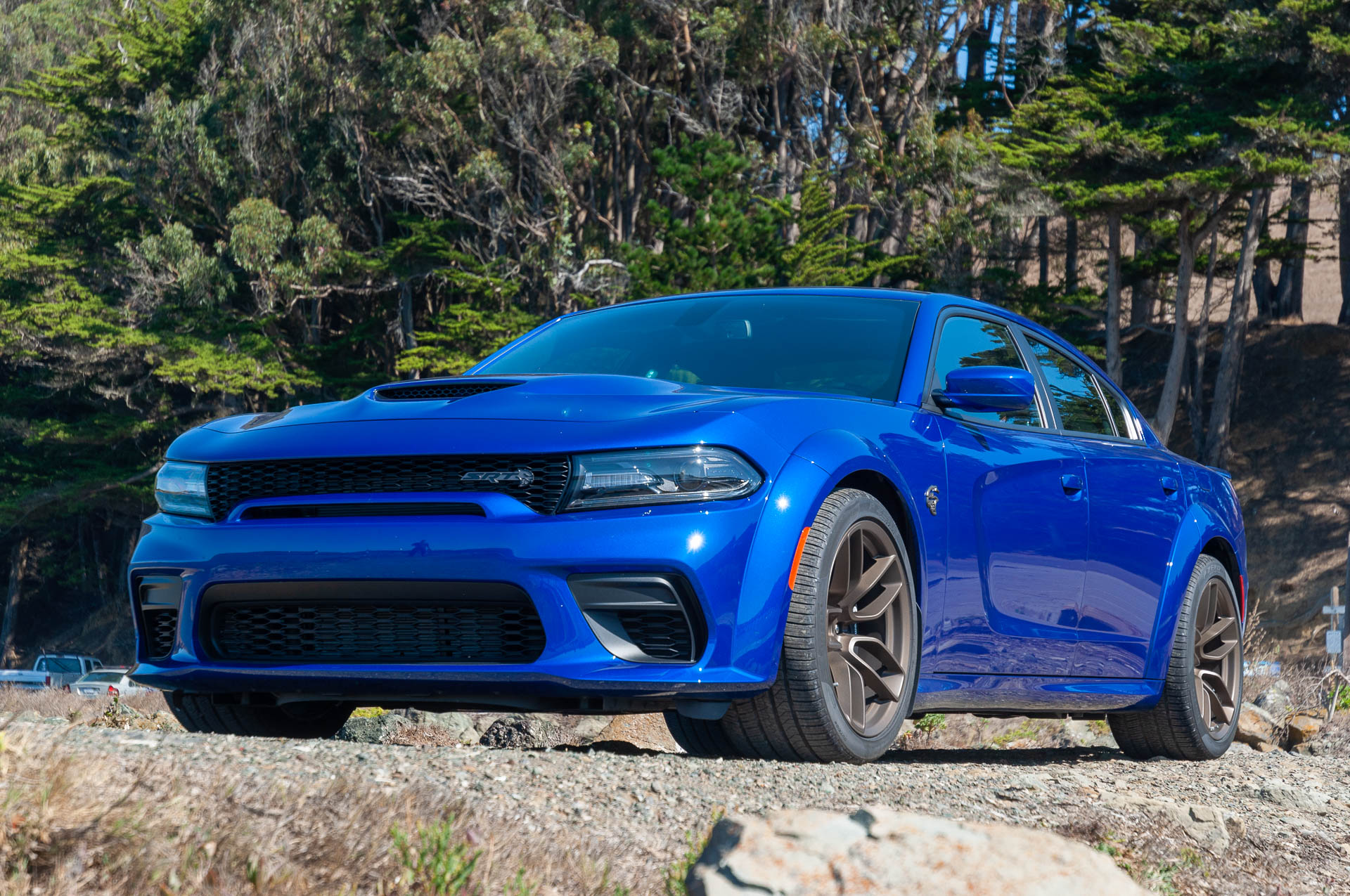 2020 Dodge Charger Srt Hellcat Widebody Color Indigo Blue Front Three Quarter Wallpapers 56 Newcarcars
