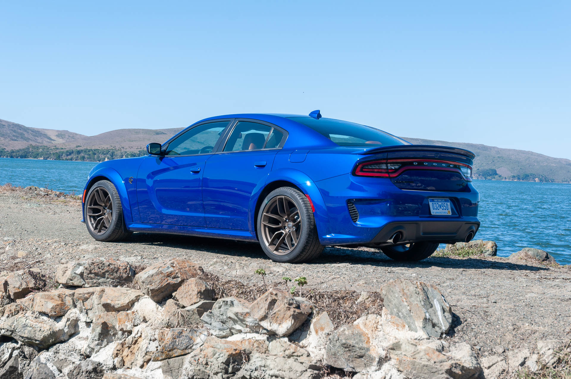 2020 Dodge Charger Srt Hellcat Widebody Color Indigo Blue Rear Three Quarter Wallpapers 60 Newcarcars