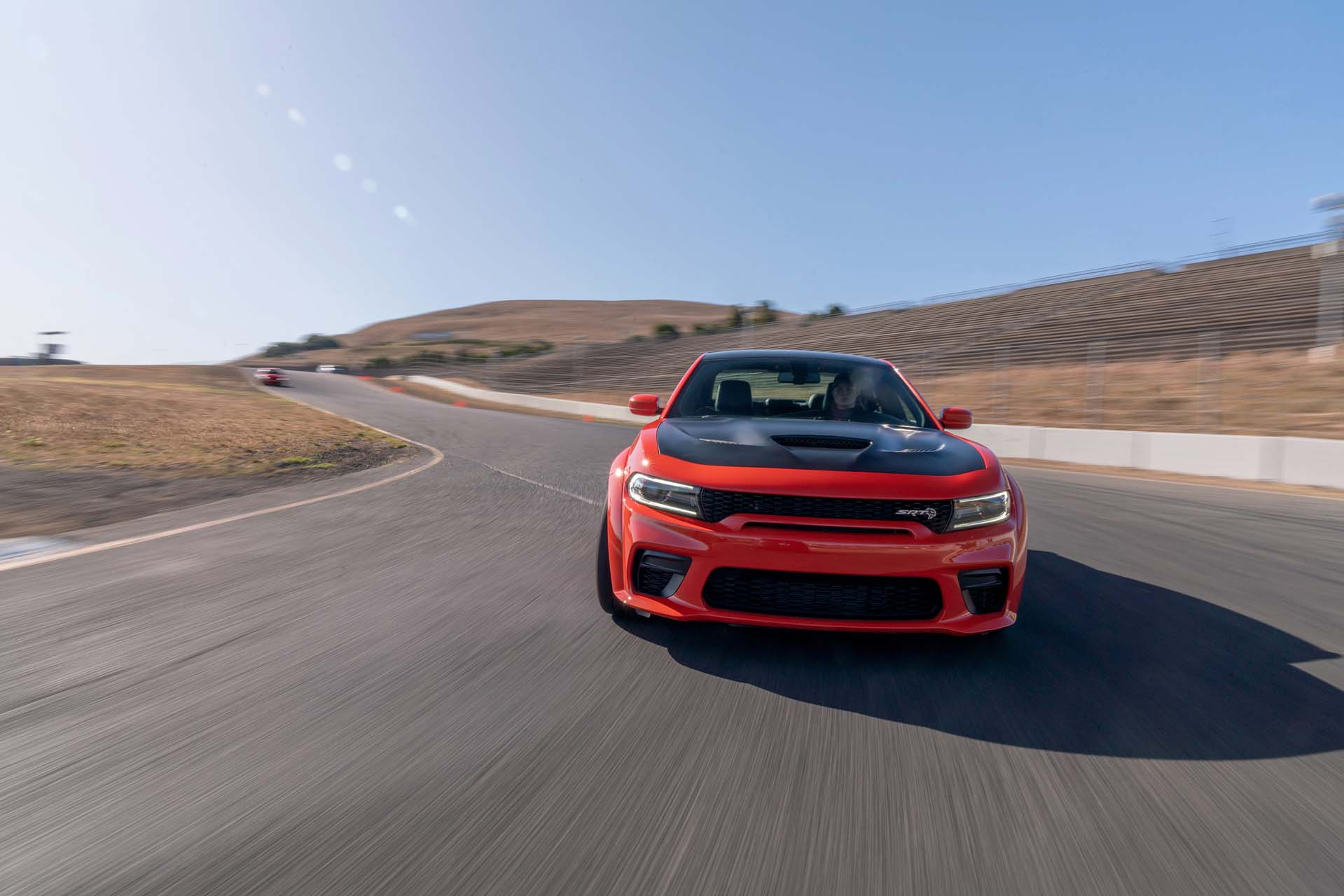 2020 Dodge Charger SRT Hellcat Widebody (Color: TorRed) Front Wallpapers (4)