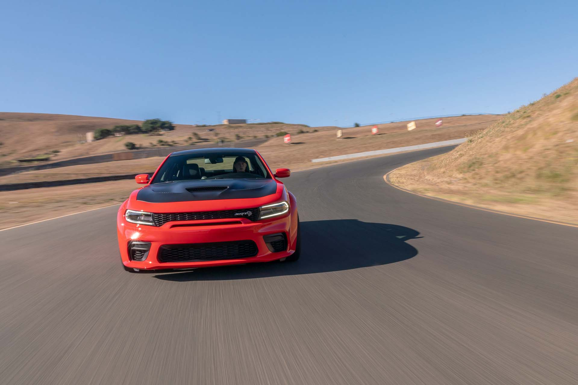 2020 Dodge Charger SRT Hellcat Widebody (Color: TorRed) Front Wallpapers (5)