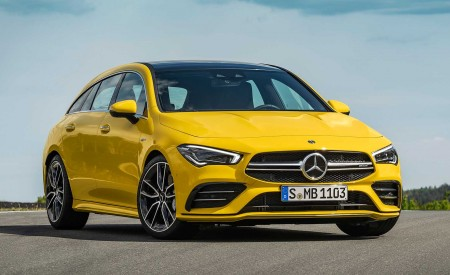 2020 Mercedes-AMG CLA 35 4MATIC Shooting Brake Front Three-Quarter Wallpapers 450x275 (11)