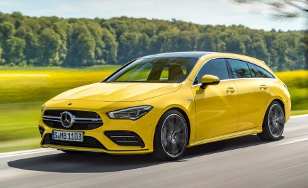 2020 Mercedes-AMG CLA 35 4MATIC Shooting Brake Front Three-Quarter Wallpapers 450x275 (2)