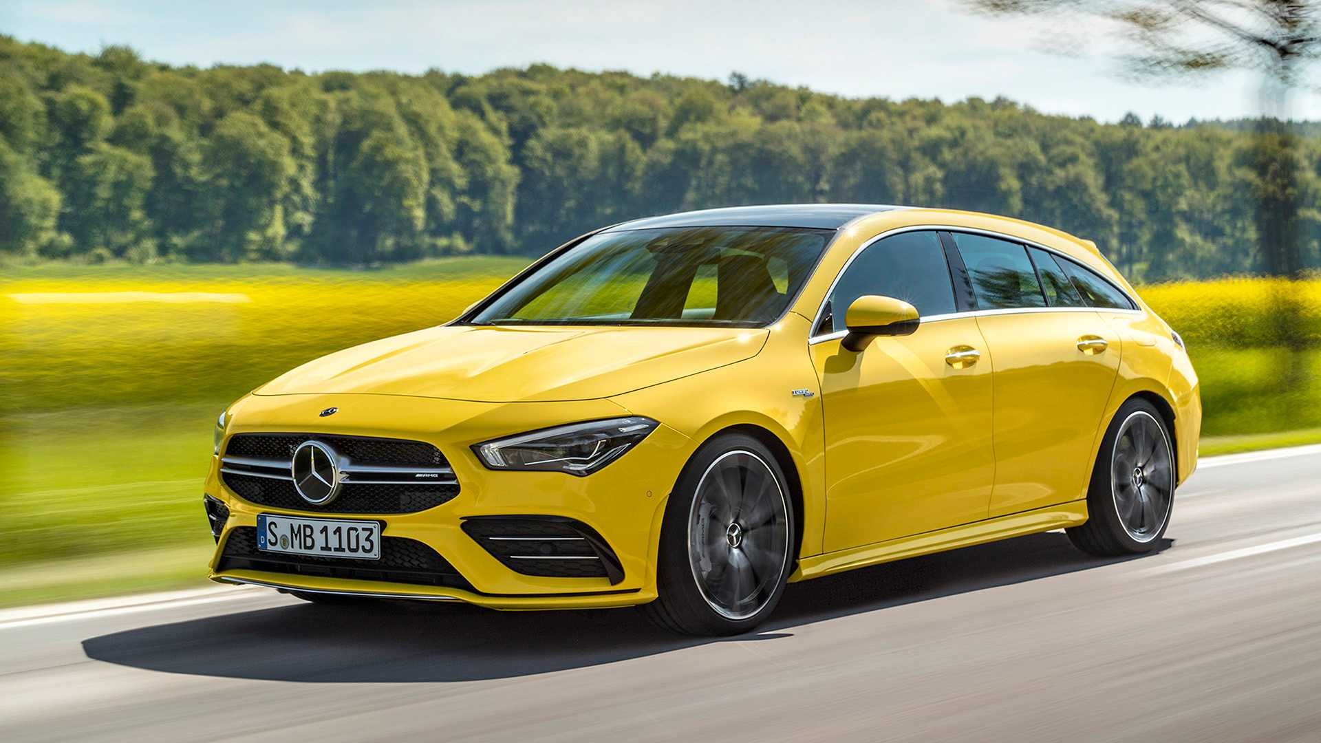 2020 Mercedes-AMG CLA 35 4MATIC Shooting Brake Front Three-Quarter Wallpapers (2)