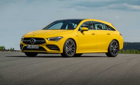 2020 Mercedes-AMG CLA 35 4MATIC Shooting Brake Front Three-Quarter Wallpapers 450x275 (12)
