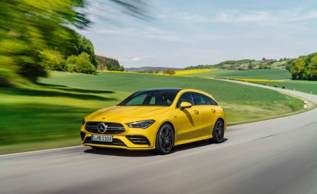 2020 Mercedes-AMG CLA 35 4MATIC Shooting Brake Front Three-Quarter Wallpapers 450x275 (4)