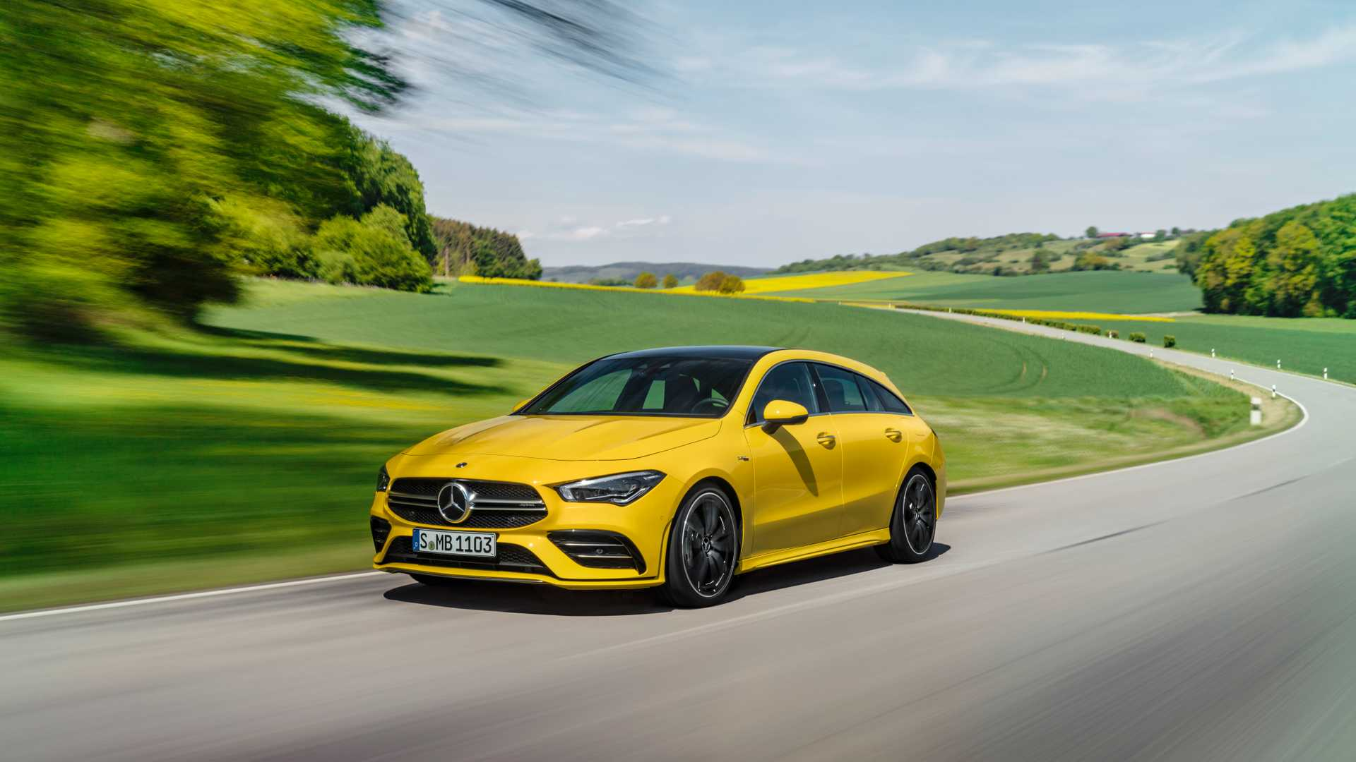 2020 Mercedes-AMG CLA 35 4MATIC Shooting Brake Front Three-Quarter Wallpapers (4)