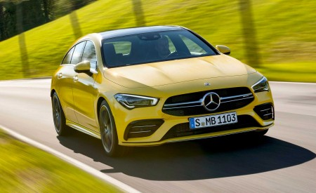 2020 Mercedes-AMG CLA 35 4MATIC Shooting Brake Front Wallpapers 450x275 (5)