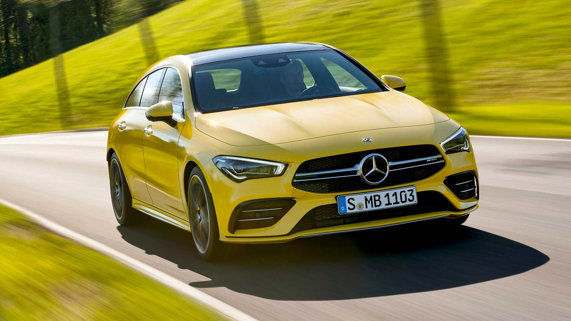 2020 Mercedes-AMG CLA 35 4MATIC Shooting Brake Front Wallpapers (5)