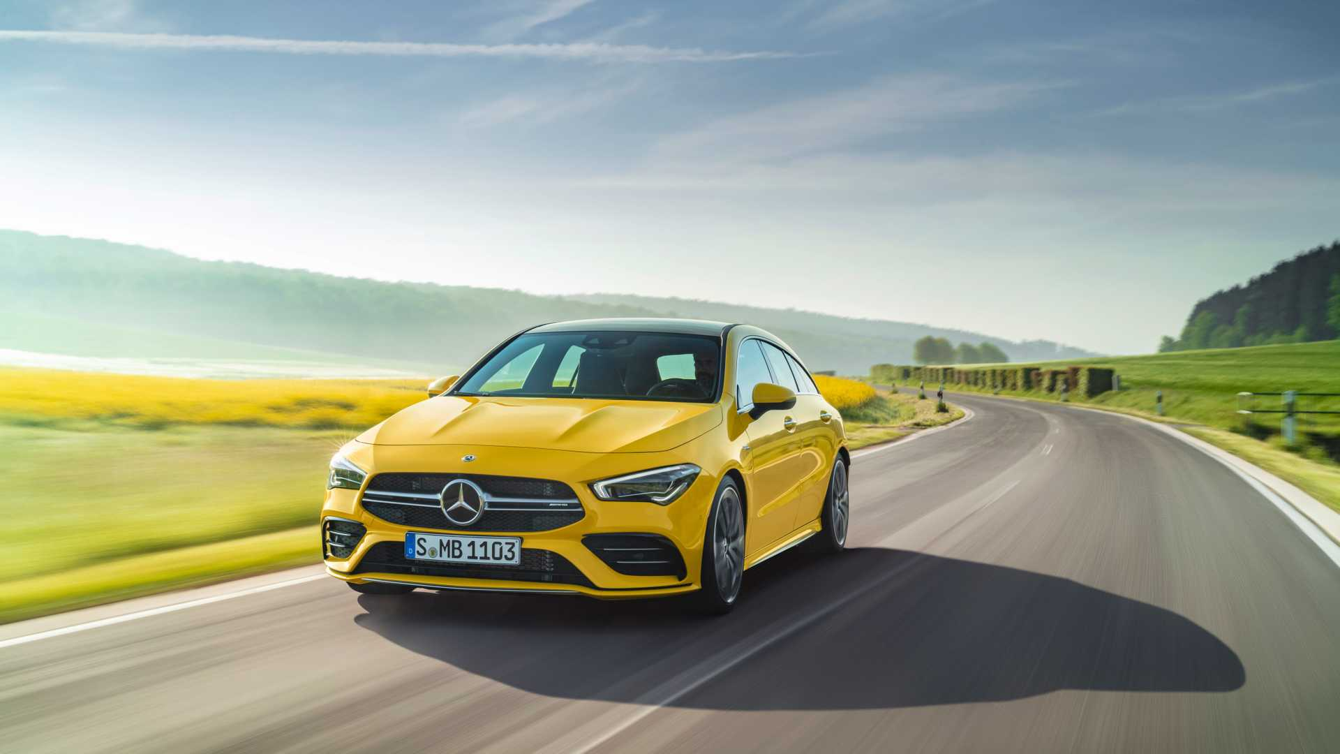 2020 Mercedes-AMG CLA 35 4MATIC Shooting Brake Front Wallpapers (1)