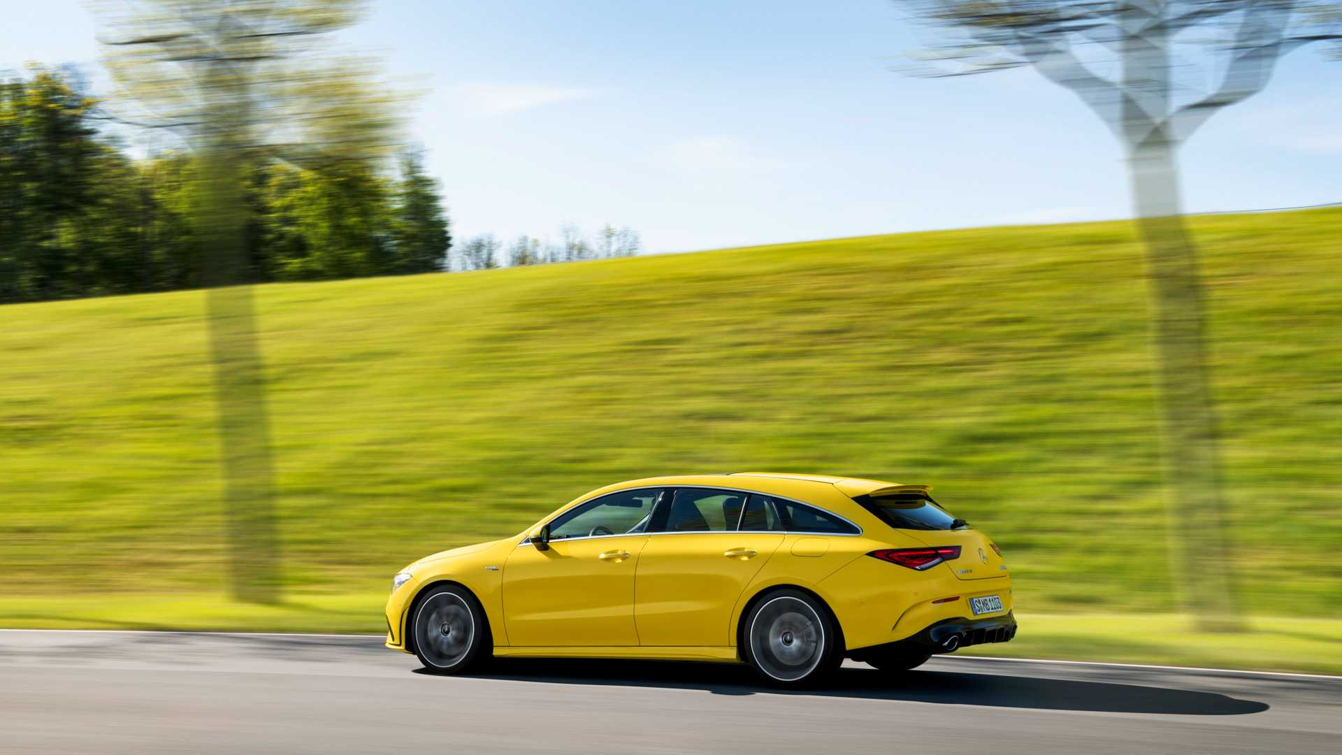 2020 Mercedes-AMG CLA 35 4MATIC Shooting Brake Rear Three-Quarter Wallpapers (6)