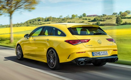2020 Mercedes-AMG CLA 35 4MATIC Shooting Brake Rear Three-Quarter Wallpapers 450x275 (7)