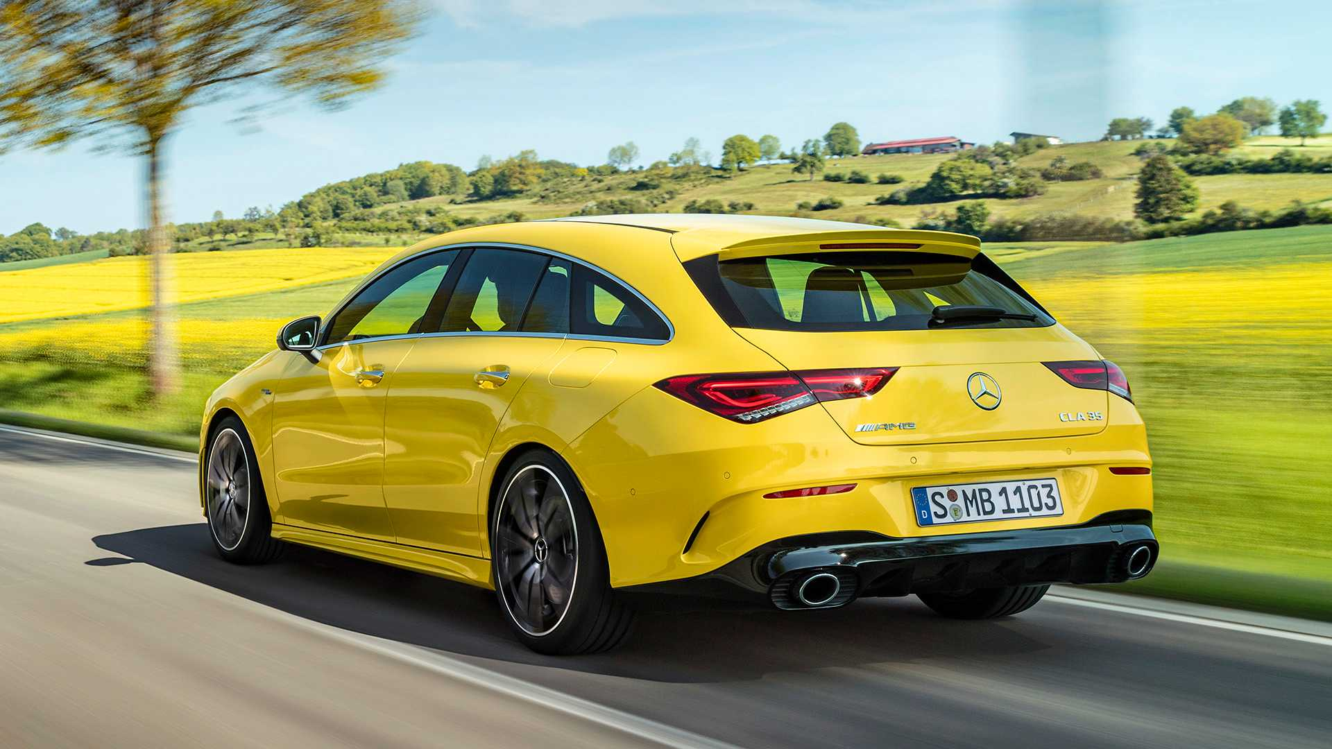 2020 Mercedes-AMG CLA 35 4MATIC Shooting Brake Rear Three-Quarter Wallpapers (7)