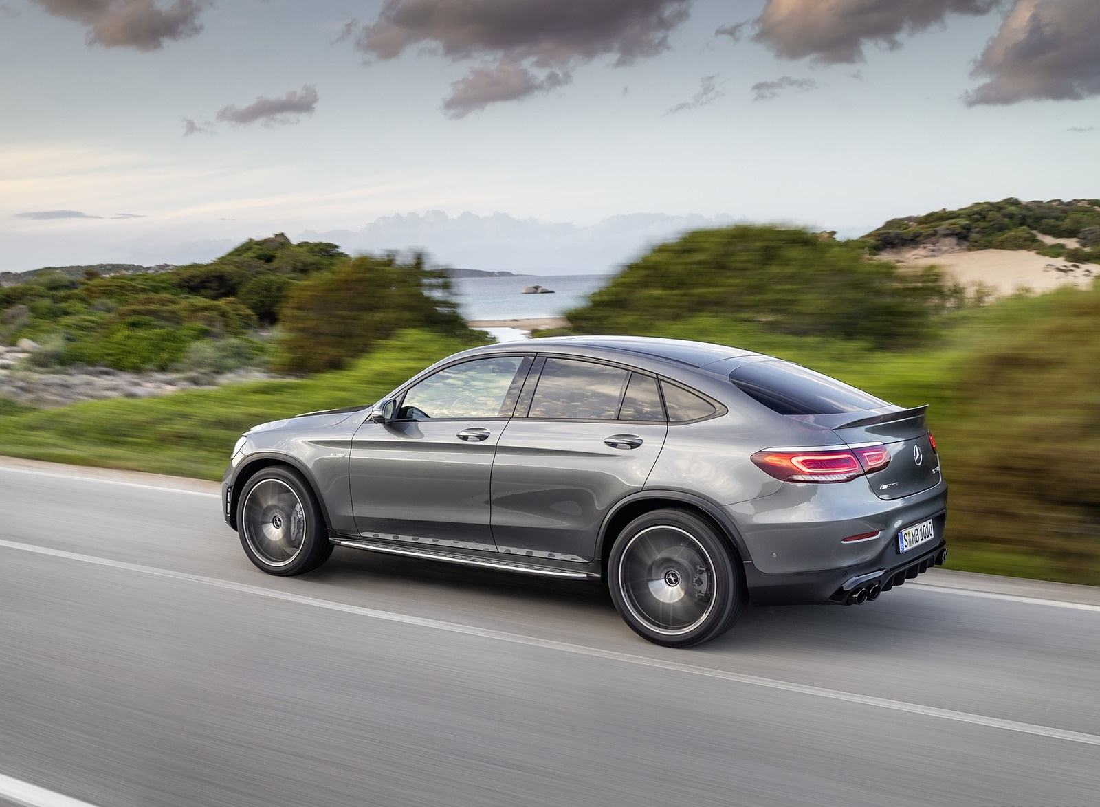 2020 Mercedes-AMG GLC 43 4MATIC Coupe Rear Three-Quarter Wallpapers (7)