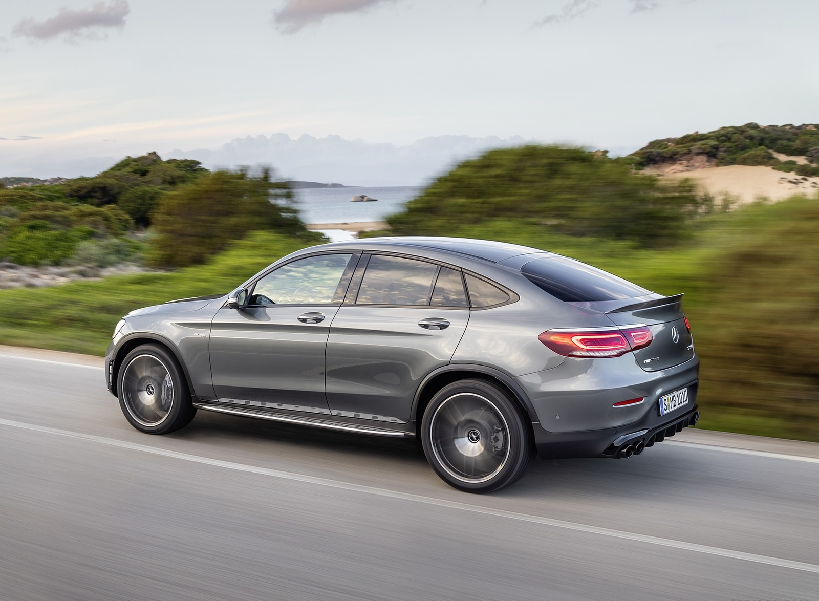 2020 Mercedes-AMG GLC 43 4MATIC Coupe Rear Three-Quarter Wallpapers (8)