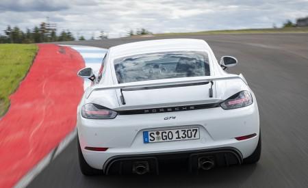 2020 Porsche 718 Cayman GT4 (Color: Carrara White Metallic) Rear Wallpapers 450x275 (148)