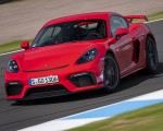 2020 Porsche 718 Cayman GT4 (Color: Guards Red) Front Wallpapers 150x120 (5)