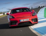 2020 Porsche 718 Cayman GT4 (Color: Guards Red) Front Wallpapers 150x120 (6)