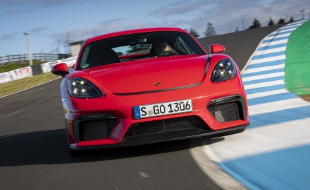 2020 Porsche 718 Cayman GT4 (Color: Guards Red) Front Wallpapers 450x275 (6)