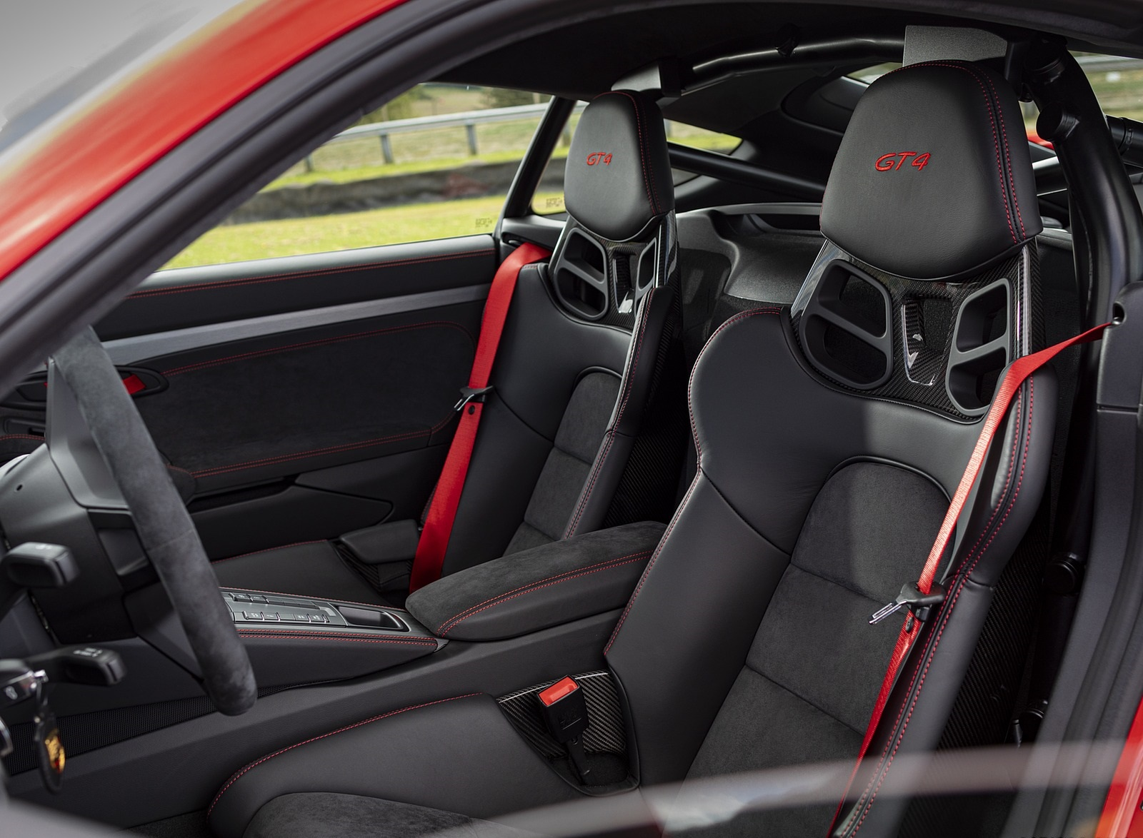 2020 Porsche 718 Cayman Gt4 Color Guards Red Interior Wallpapers 46 Newcarcars