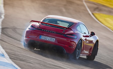 2020 Porsche 718 Cayman GT4 (Color: Guards Red) Rear Wallpapers 450x275 (10)