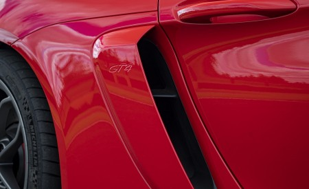 2020 Porsche 718 Cayman GT4 (Color: Guards Red) Side Vent Wallpapers 450x275 (35)