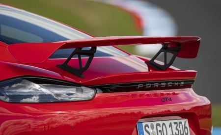 2020 Porsche 718 Cayman GT4 (Color: Guards Red) Spoiler Wallpapers 450x275 (36)