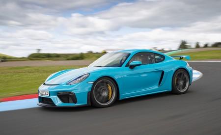 2020 Porsche 718 Cayman GT4 (Color: Miami Blue) Front Three-Quarter Wallpapers 450x275 (98)