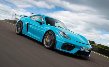2020 Porsche 718 Cayman GT4 (Color: Miami Blue) Front Three-Quarter Wallpapers 450x275 (100)