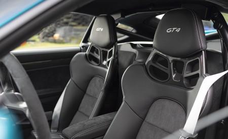 2020 Porsche 718 Cayman GT4 (Color: Miami Blue) Interior Seats Wallpapers 450x275 (135)