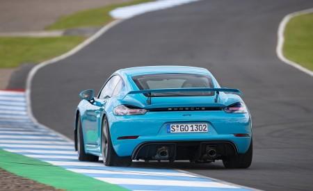 2020 Porsche 718 Cayman GT4 (Color: Miami Blue) Rear Wallpapers 450x275 (110)