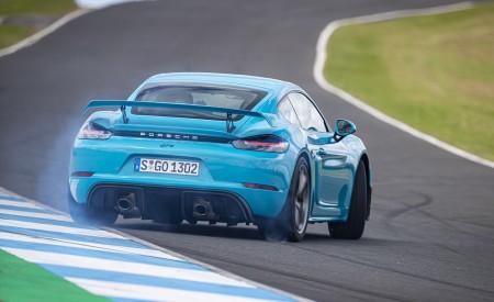 2020 Porsche 718 Cayman GT4 (Color: Miami Blue) Rear Wallpapers 450x275 (102)