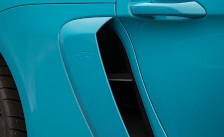 2020 Porsche 718 Cayman GT4 (Color: Miami Blue) Side Vent Wallpapers 450x275 (117)