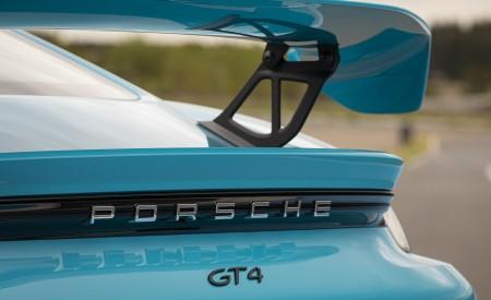 2020 Porsche 718 Cayman GT4 (Color: Miami Blue) Spoiler Wallpapers 450x275 (114)