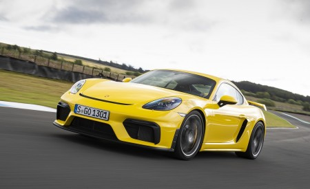 2020 Porsche 718 Cayman GT4 (Color: Racing Yellow) Front Three-Quarter Wallpapers 450x275 (67)