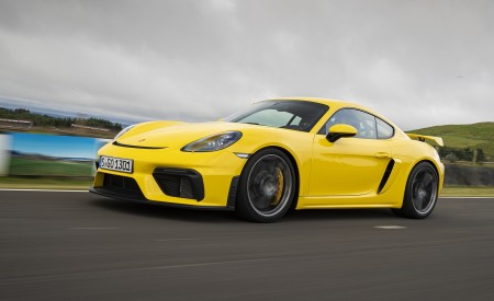 2020 Porsche 718 Cayman GT4 (Color: Racing Yellow) Front Three-Quarter Wallpapers 450x275 (54)